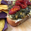 Kashmir Spinach Open-Faced Grilled Cheese Recipe