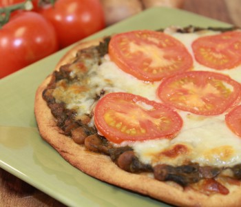 Spinach Dal Pizza Image