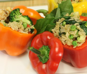 Thai Lime Rice Stuffed Peppers Image