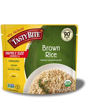 Family Size Brown Rice package