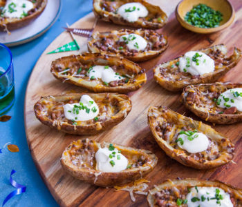 Tasty Loaded Potato Skins Image