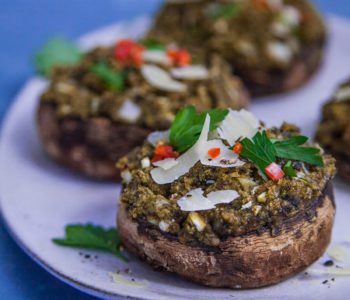 Tasty Spinach and Parmesan Stuffed Mushrooms Image