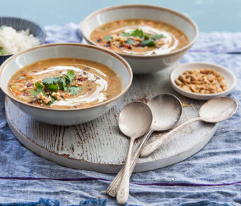 Tasty Thai Peanut Vegetable Soup Image