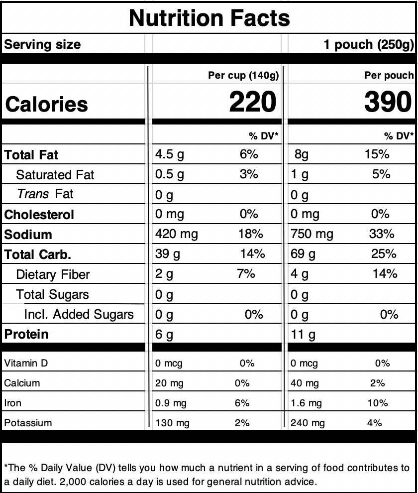 Cuban Rice & BeansNutrition Facts