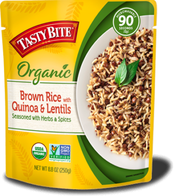 Brown Rice with Quinoa & Lentils package