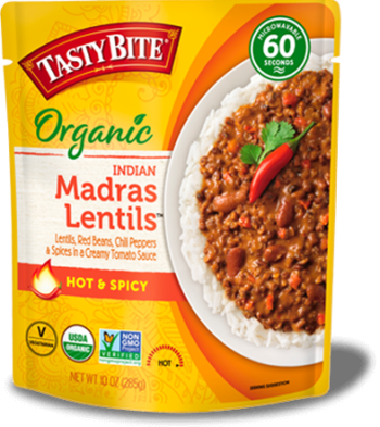 Madras Lentils Hot & Spicy™ package